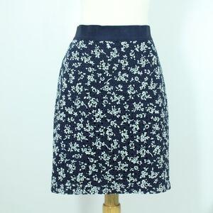 Ann Taylor Eyelet Overlay Pencil Skirt 6P